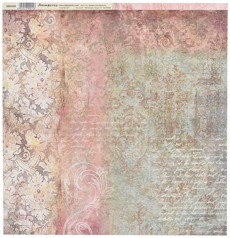 Multicolor Stamperia Papel Scrap Textura Tapiz Talla unica