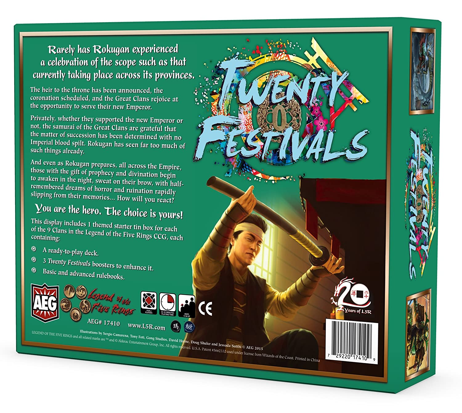 kaartspellen L5R Twenty Festivals Starter Display Card Game