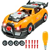 Innovative Brain Racing Car Take-A-Part Toy For Kids with 28 Take Apart Pieces | Build Your Own Car Construction Set | Develop Fine Motor Skills And Hand-Eye Coordination For Children Age 3 & Up