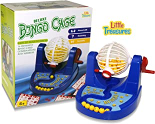 LITTLE TREASURES Bingo Cage Champion Set, Royal Bingo Set For State Fair Bingo Games.