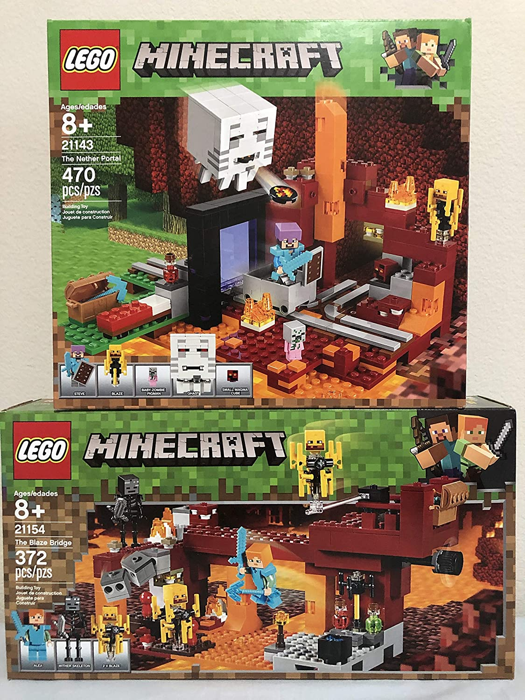 Amazon.com: LEGO Minecraft The Blaze Bridge Bundled Minecraft The