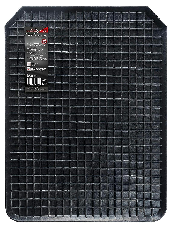 Color Negro Walser Rechteck Alfombrilla de Goma para veh/ículo