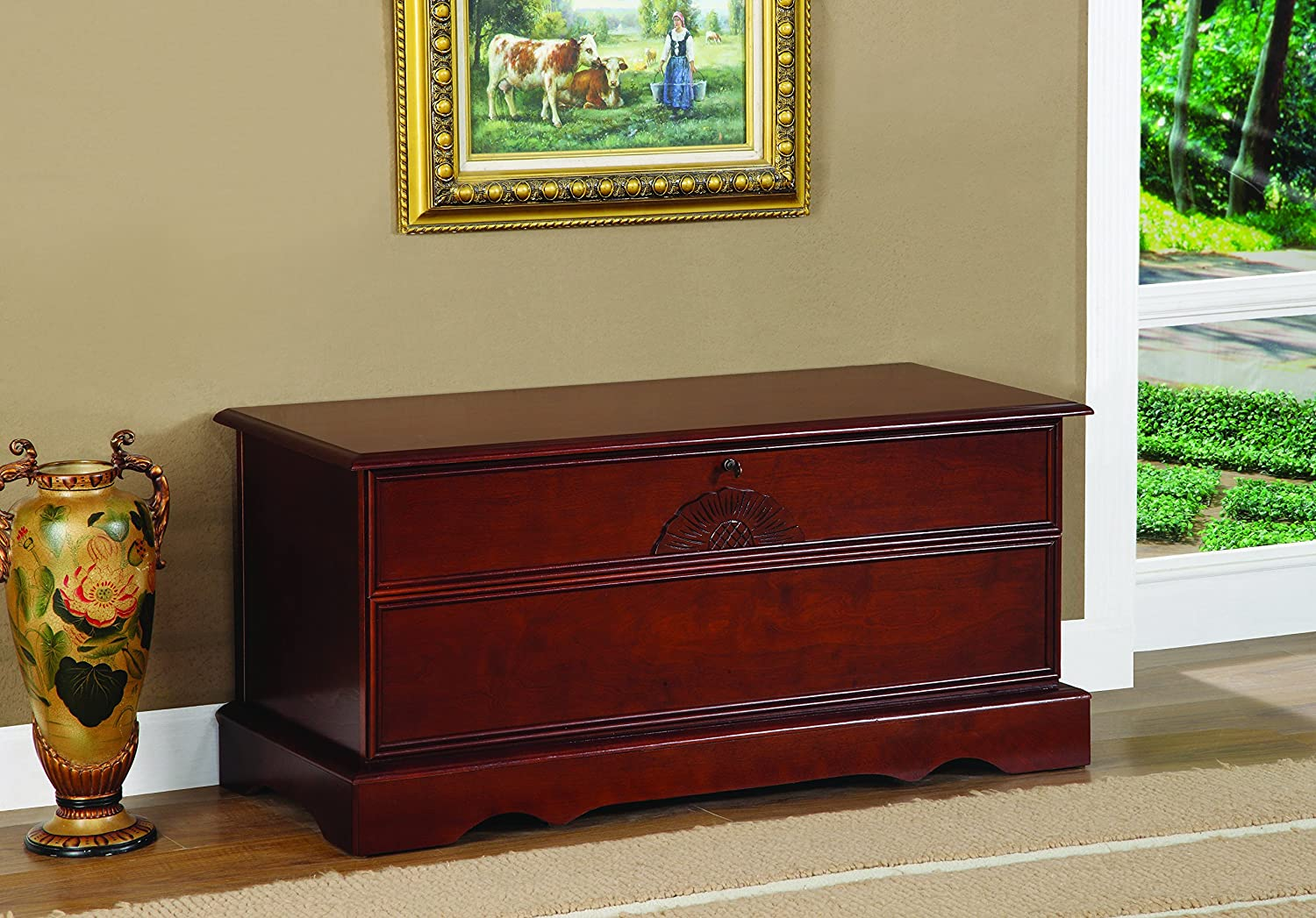 Cedar Chest with Locking Lid Warm Brown Coaster Home Furnishings 4694