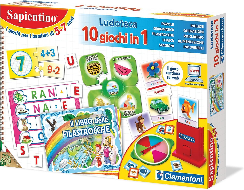 Clementoni 12801 La Ludoteca de Sapientino - Juego de 10 Juegos en ...