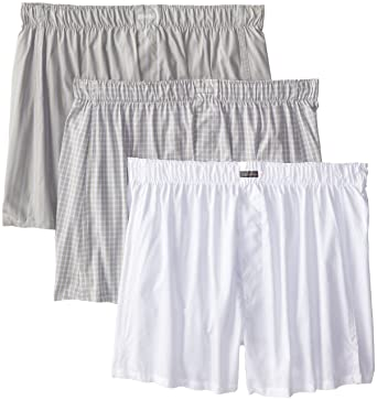 8deaff8a9619 Calvin Klein Men's Three-Pack Cotton Classic Woven Boxer at Amazon Men's  Clothing store: