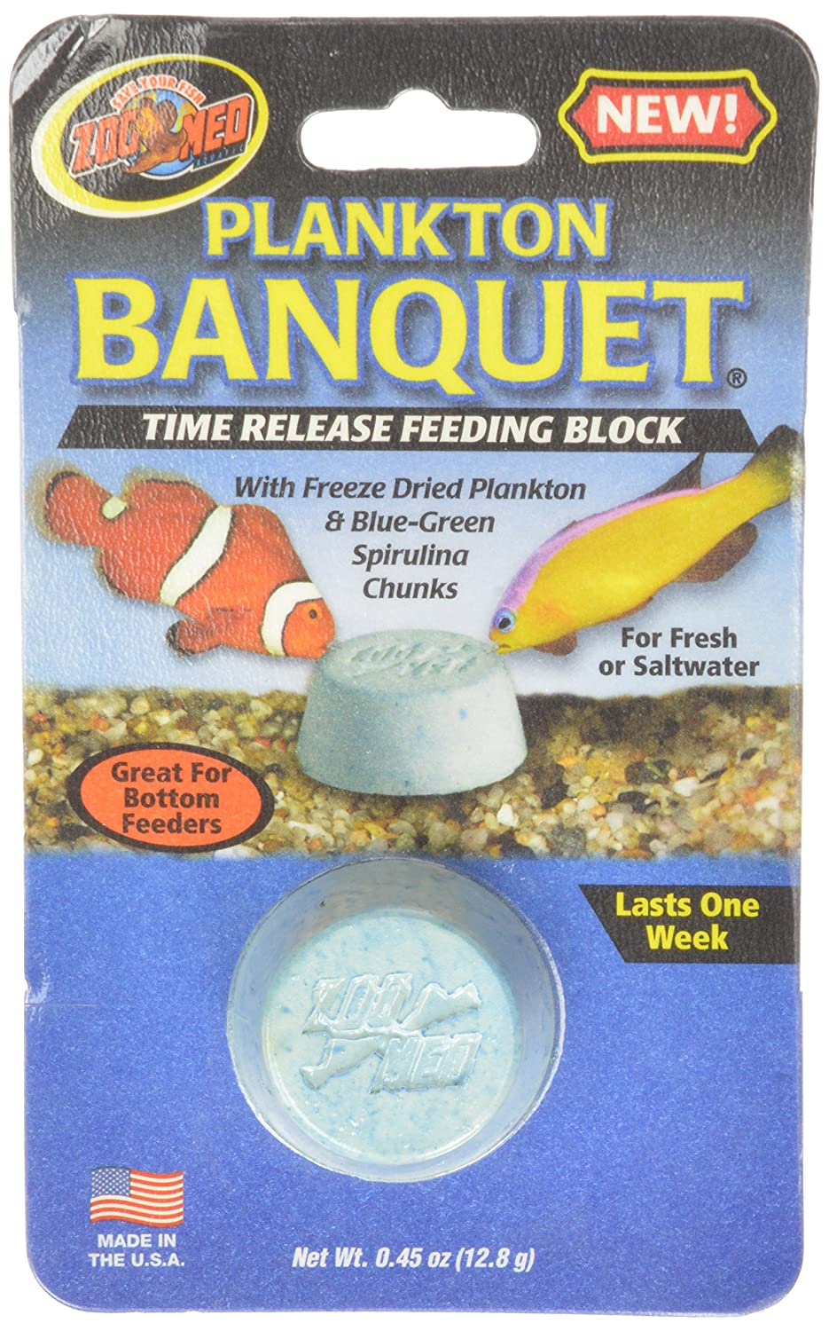 Zoo Med Laboratories AZMBB4 Plankton Banquet Block Feeder Regular