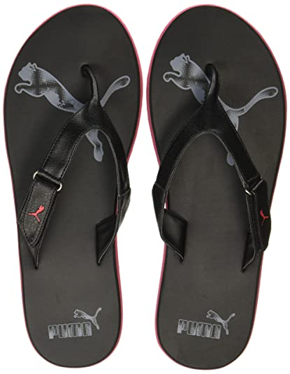 25136108faa Puma Men's Breeze Ng Gray Violet-Barbados Cherry Black Flip Flops Thong  Sandals-10
