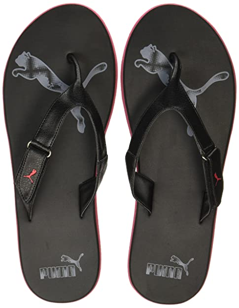 421ad6e2858a Puma Men s Breeze Ng Gray Violet-Barbados Cherry Black Flip Flops Thong  Sandals-10