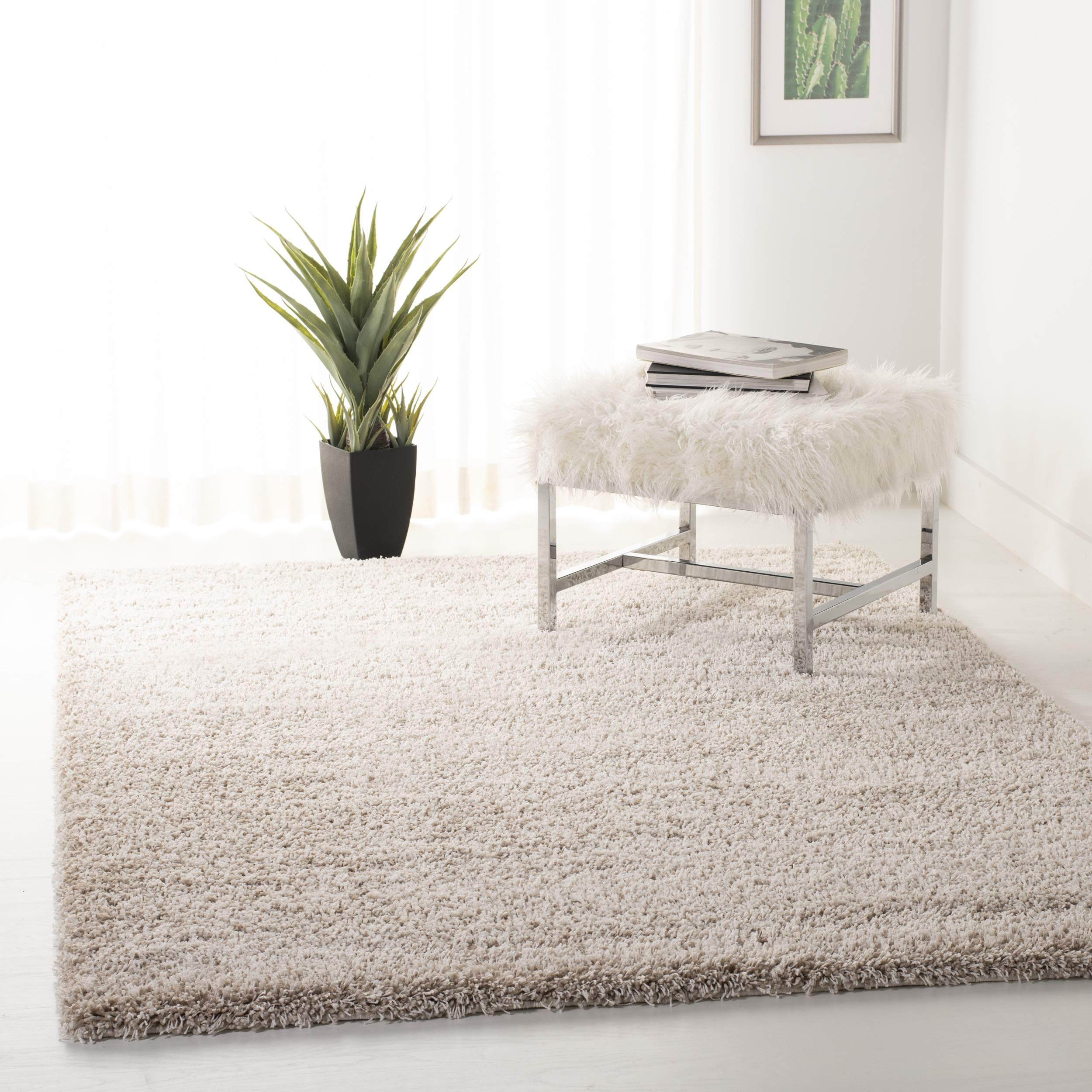 Safavieh California Premium Shag Collection SG151-1313 Area Rug, 8' x 10', Beige product image