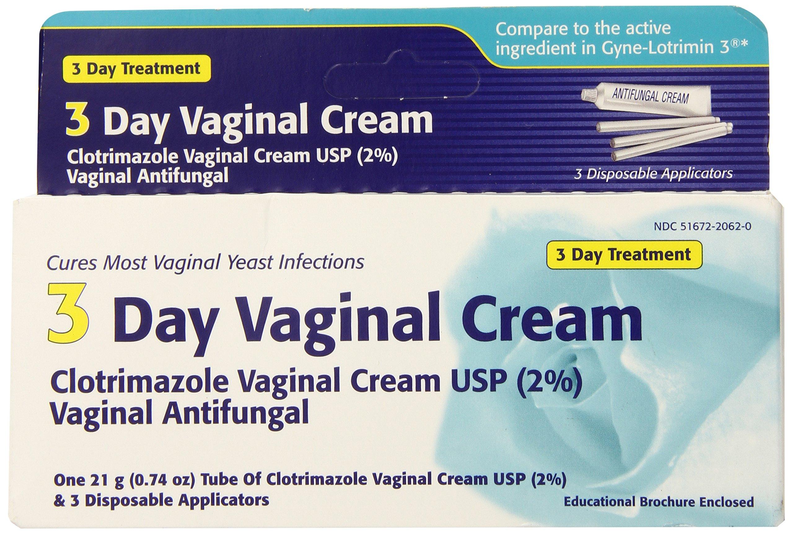 Clotrimazole 3 Day Vaginal Cream 0.74 Oz, 3 dosages by Clotrimazole vaginal