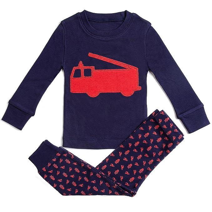 Amazon.com: Bluenido - Pijamas para niños (2 piezas, 100 ...