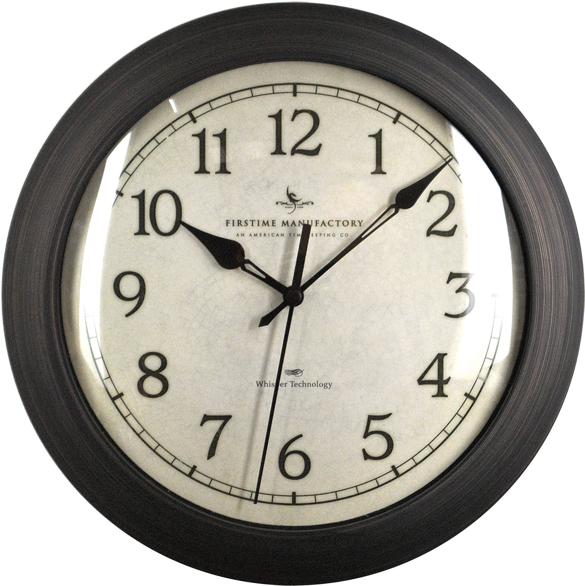 FirsTime 00168 Wall Clock, Oil Rubbed Bronze