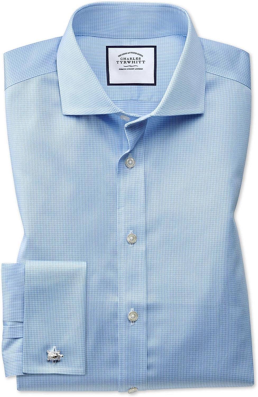 Charles Tyrwhitt Camisa Azul Celeste Slim fit con diseño ...