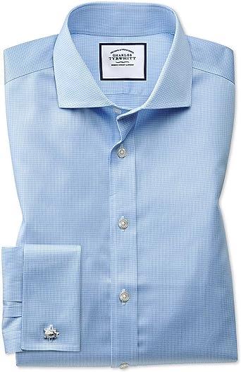 Charles Tyrwhitt Camisa Azul Celeste Slim fit con diseño Micro ...