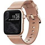 Nomad Modern Strap (Slim) for Apple Watch 40mm/38mm | Natural Horween Leather | Gold Hardware