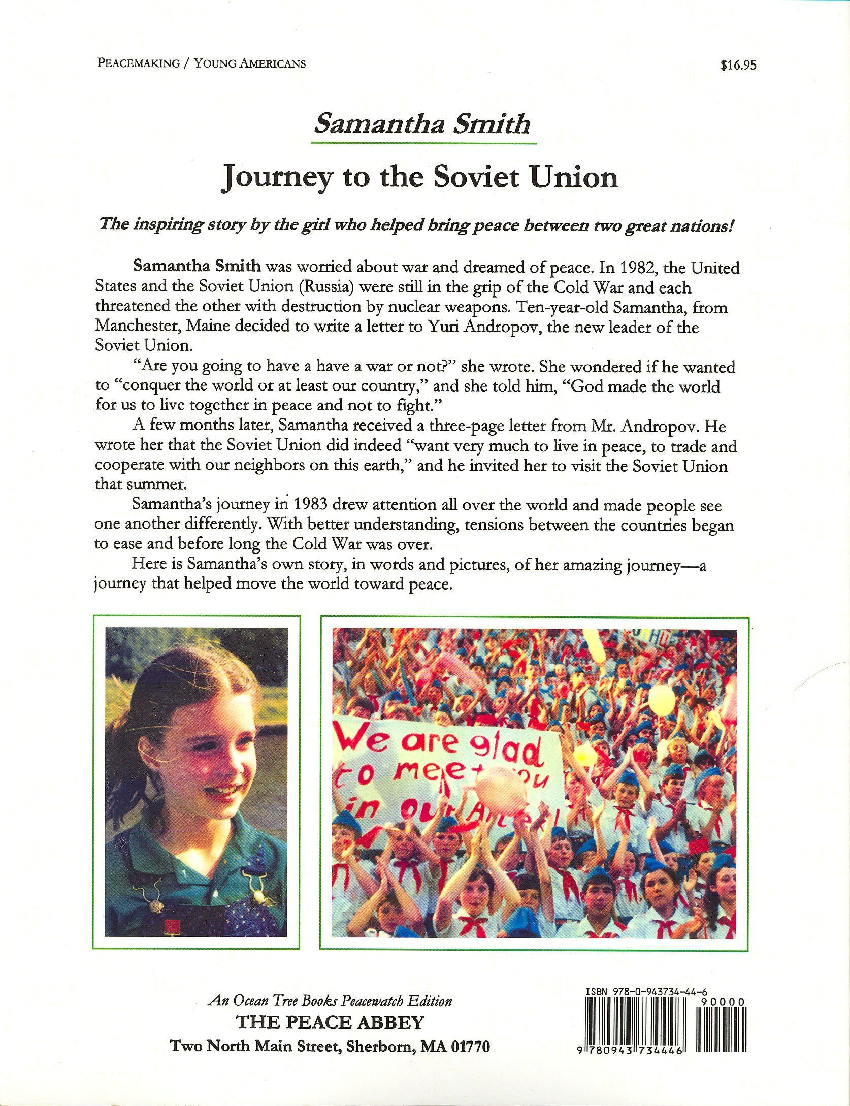 Journey To The Soviet Union: Samantha Smith: 9780943734446: Amazon:  Books