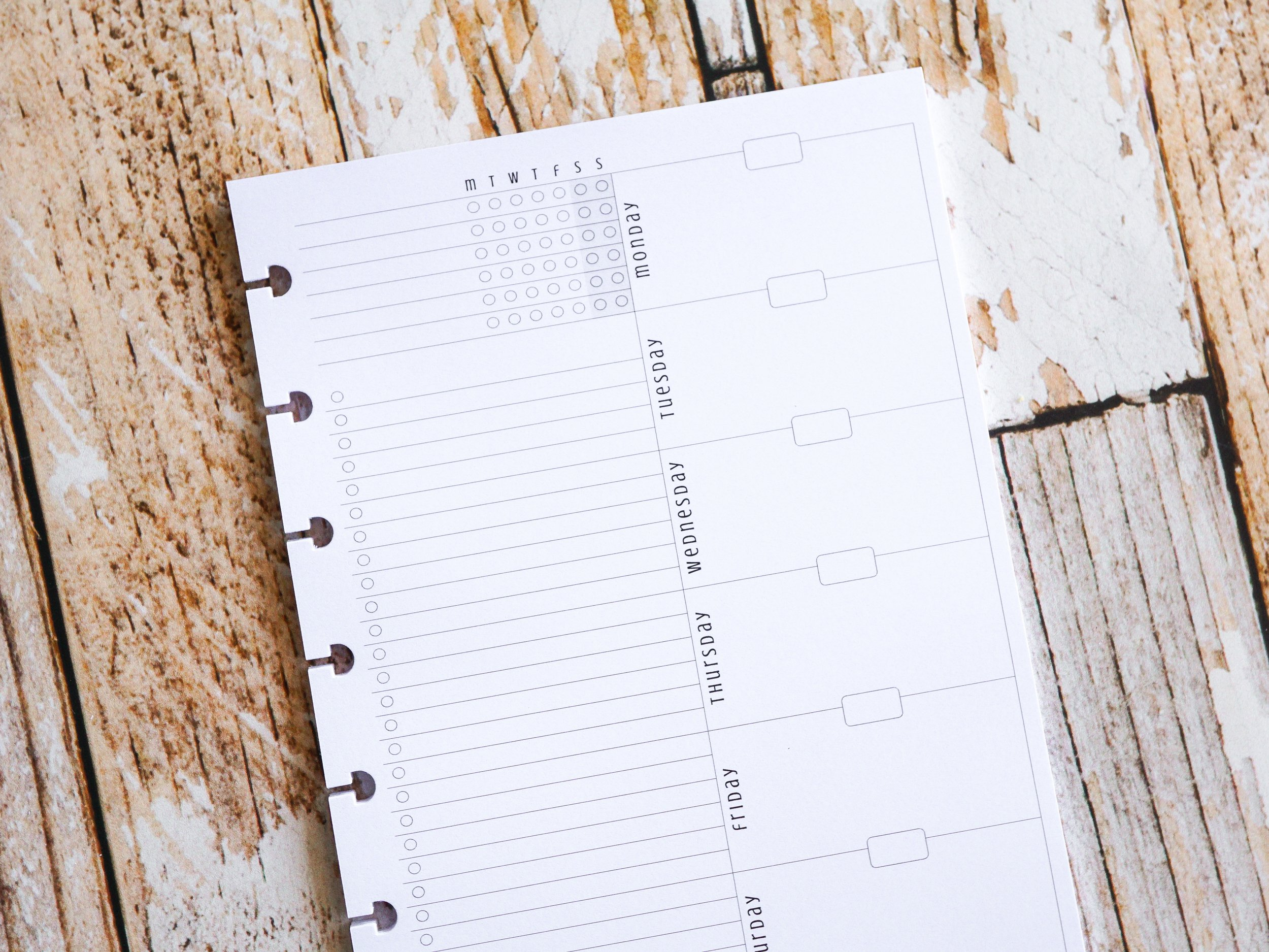 Weekly Planner Inserts | Mini Happy Planner Size | Undated