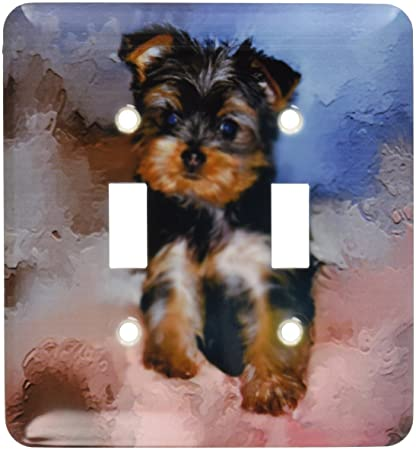 3drose Llc Lsp38682 Toy Yorkie Puppy Double Toggle Switch