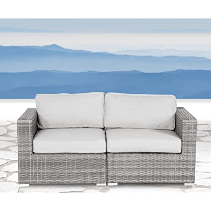 Outdoor Furniture Patio Sofa Couch Garden, Backyard, Porch Or Pool  All Weather Wicker