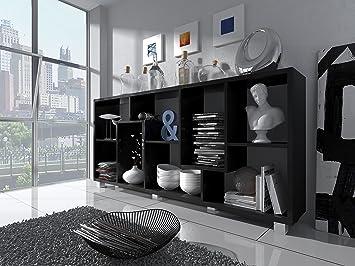 Home Innovation Etagere Murale Rangement Pour Livres Bibliotheque Salon Sejour Contemporaine Separation Division Montage Horizontal Et