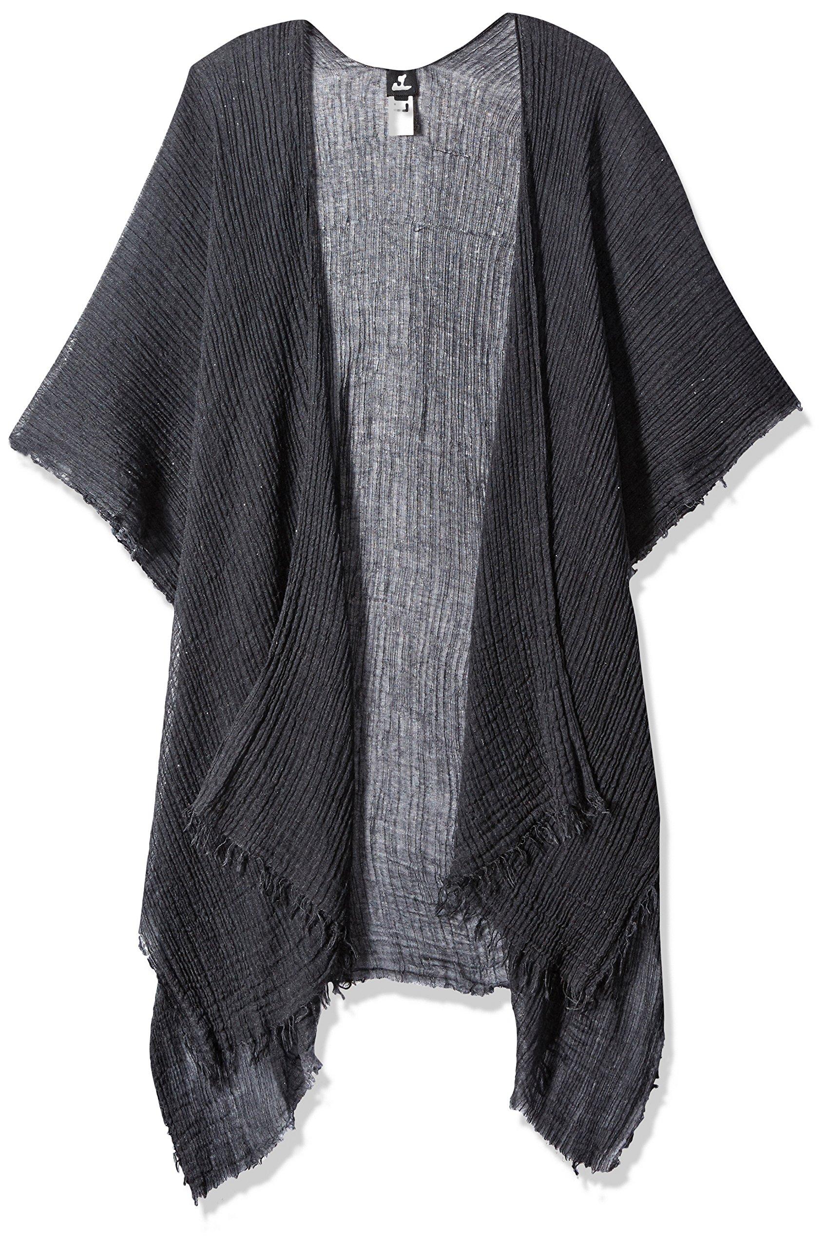 Echo Women's Tissue Weight Ruana black One Size
