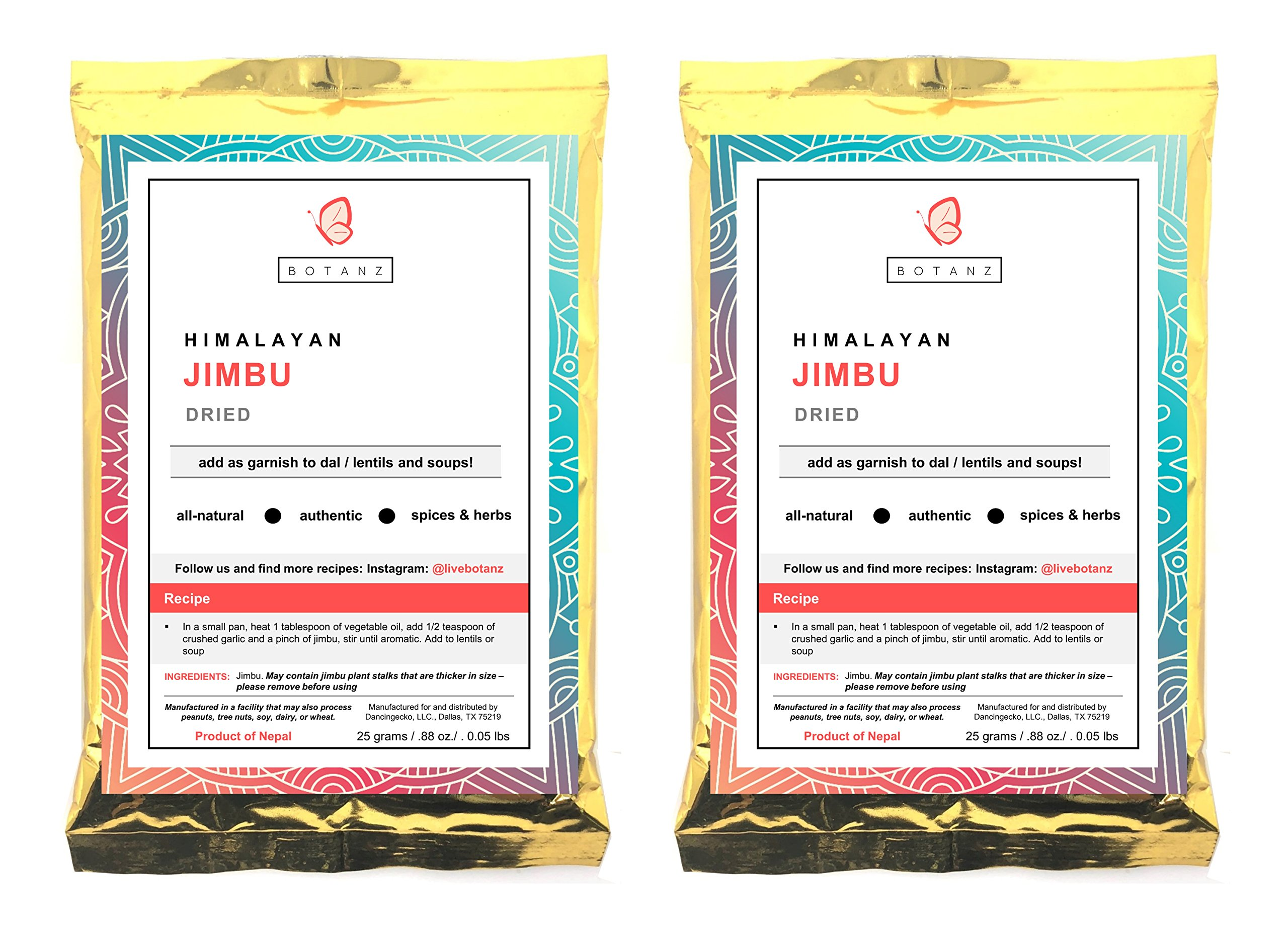 Botanz Himalayan Spice: 2 Pack Dried Jimbu (50 Grams/1.76 Ounces)
