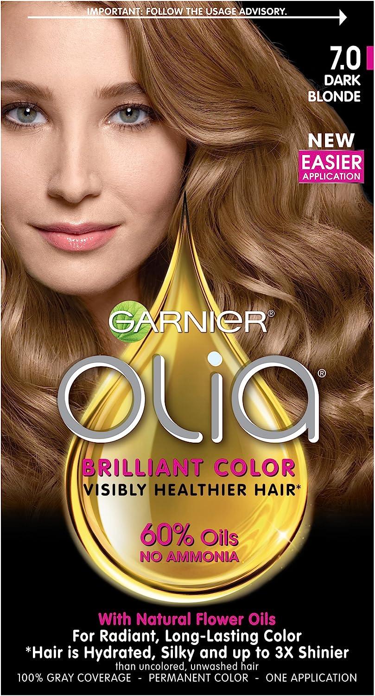 Garnier Olia Oil Powered Permanent Haircolor, 7.0 Dark ...