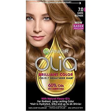 Amazon.com: Garnier Olia Hair Color, 7.0 Dark Blonde, Ammonia Free ...