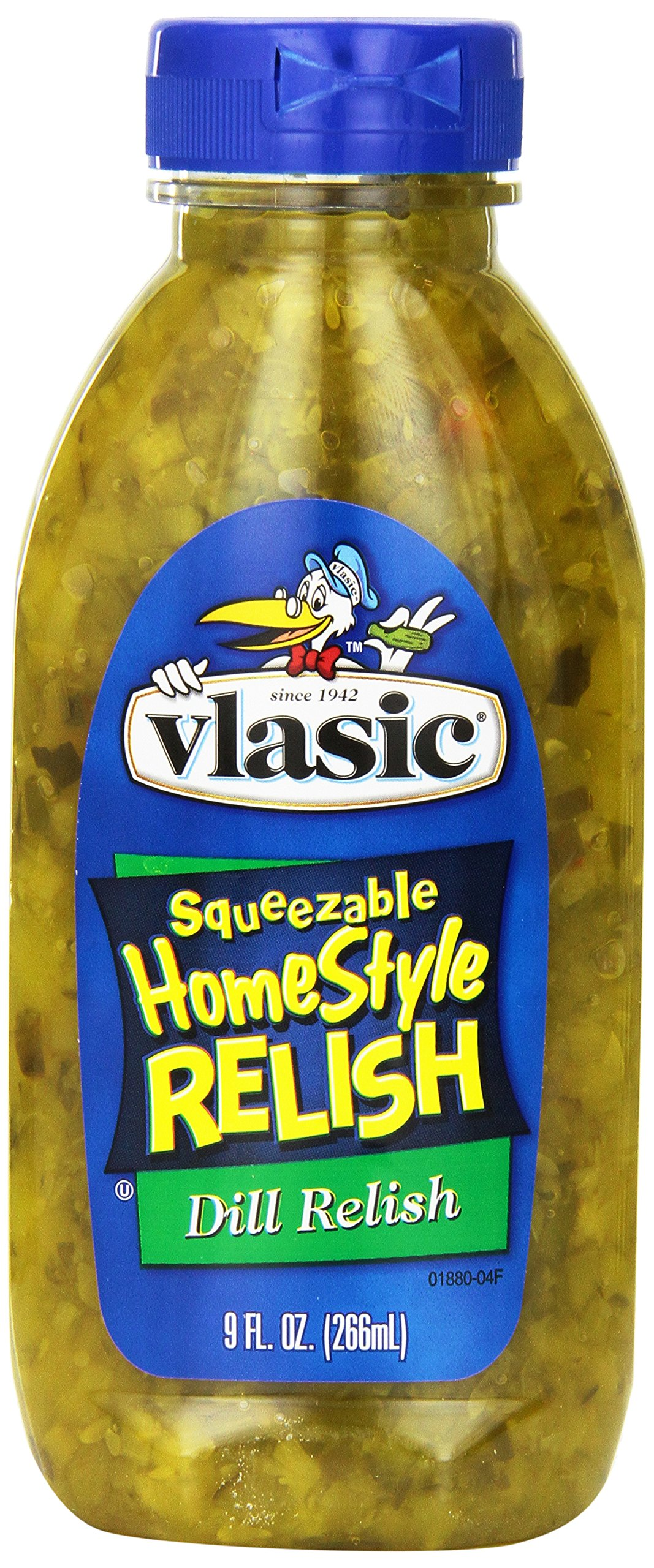 Vlasic Squeezeable Homestyle Pickle Relish, Dill, 9 Ounce
