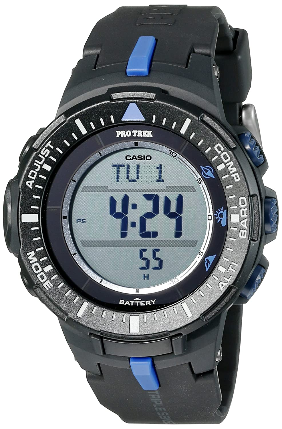 casio men 39 s prg 300 1a2cr pro trek triple sensor tough solar black digital watch 79767035150 ebay