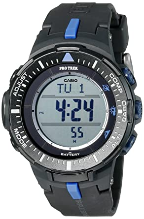 Amazon.com  Casio Men s PRG-300-1A2CR Pro Trek Triple-Sensor Tough ... 092665b19