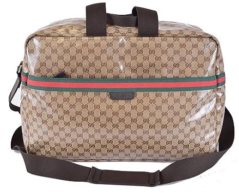 Amazon.com: Gucci 374770 Gucci XL Web Duffle GG Logo Unisex ...