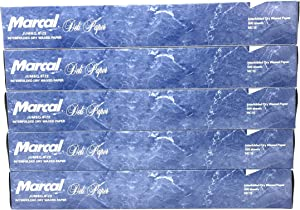 Marcal Deli Wrap Interfolded Wax Paper. Dry Waxed Food Liner Jumbo Size 15 Inch by 10.75 Inch. Total of 2500 Sheets (5 x 500 Packs)