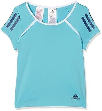 Adidas Camiseta de niña G Club, Primavera/Verano, niña, Color Samba Blue/White/Mystery Blue, tamaño 116: Amazon.es: Deportes y aire libre