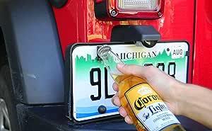 Wrangler licencia Plate Abridor de botellas con montaje en bastidor autoec botella abridor para placa de matr/ícula trasera para Jeep Wrangler JK TJ modelos