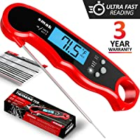 Digital Instant Read Meat Thermometer - Waterproof Kitchen Food Cooking Thermometer with Backlight LCD - Best Super Fast Electric Meat Thermometer Probe for BBQ Grilling Smoker Candy Baking Turkey