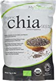 Organic Chia Seeds (1 Kilogram) | MySuperFoods | Bursting with Nutrients | High in Fatty Acids | Certified Organic | Tiny BUT Powerful | Great Option for a Healthy Diet