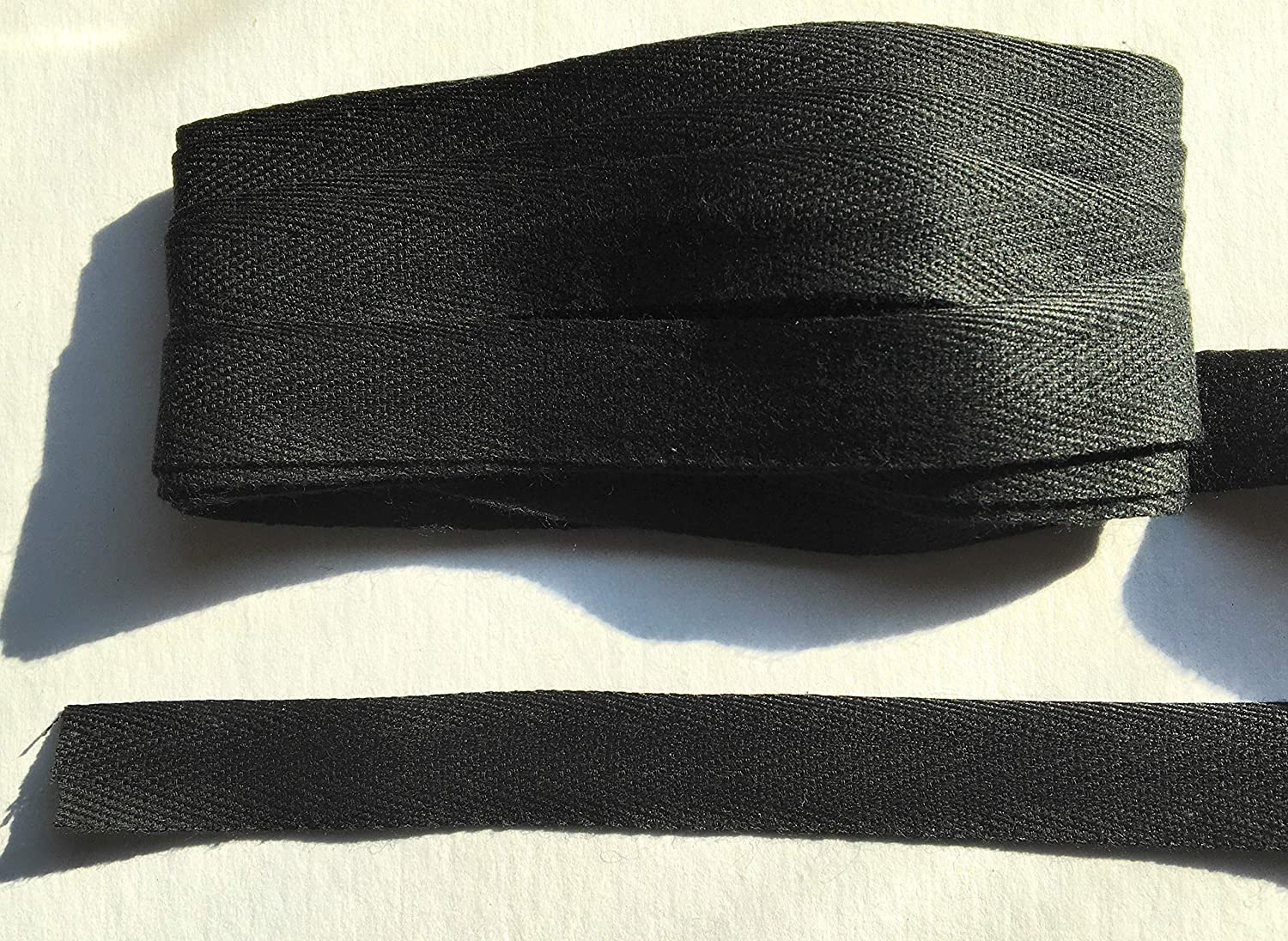 Black 5//8 5//8 Black Twill Tape Trim 5 Yards