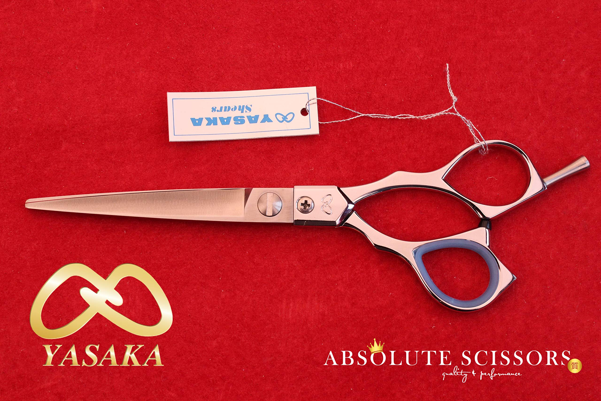 Yasaka Hair scissors-shears M600 6 inches COBALT ATS 314 Made in JAPAN (FLAT SCREW)