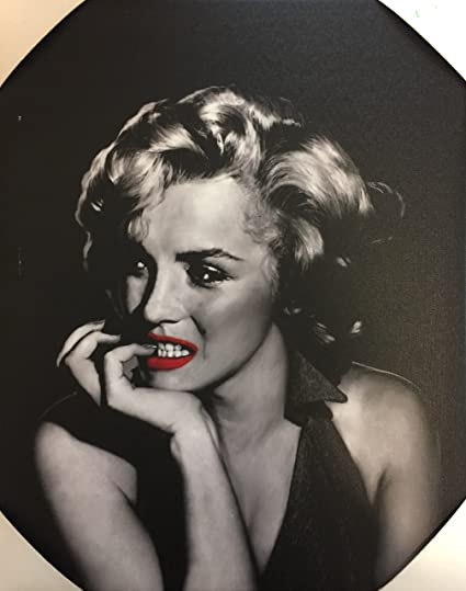 Marilyn Monroe With Red Lips QuotThe Thinkerquot By Jerry Michael Wall Art Frame