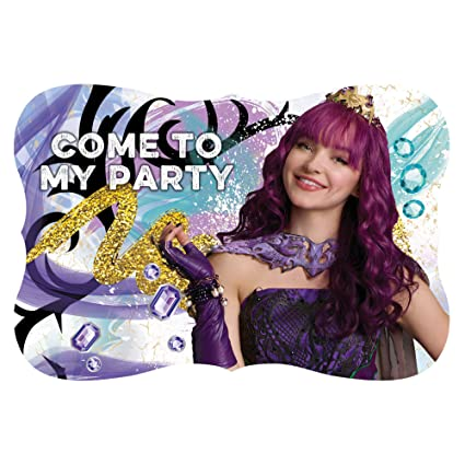 Amazon Amscan Disney Descendants 2 Postcard InvitationsWhiteOne Size Beauty