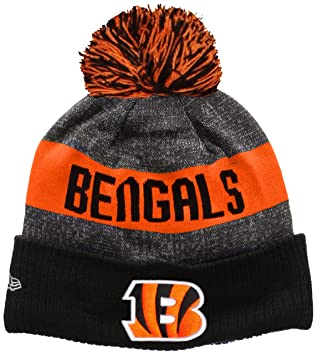 New Era Men s NFL Sideline Bobble Knit Cincinatti Bengals Beanie ... de1686c95
