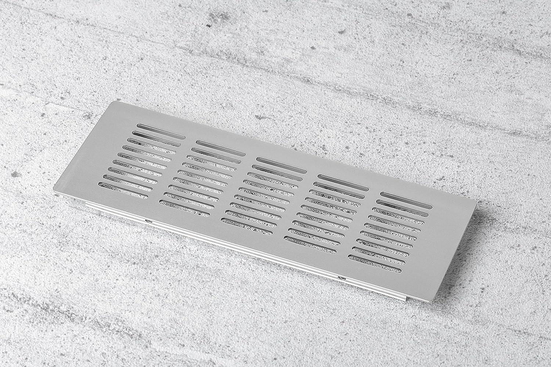 H6015 225 x 80 mm H/öhe 15 mm Lamellengitter Aluminium natur eloxiert mit gerillten Stegen Gedotec L/üftungsgitter f/ür K/üche Lochblech Alu T/ür-Gitter Alu rechteckig 1 St/ück