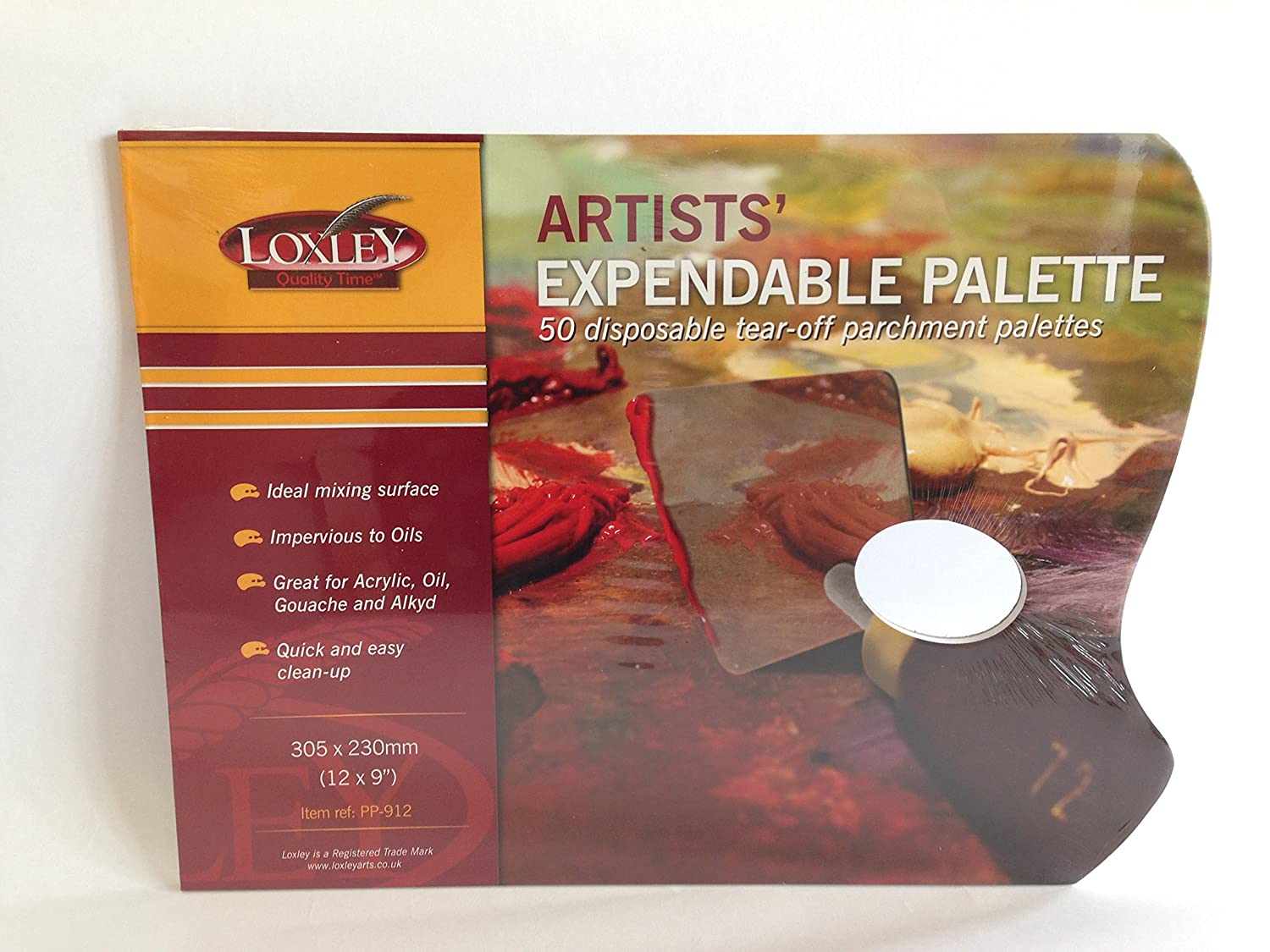 Loxley Artists expendable palette