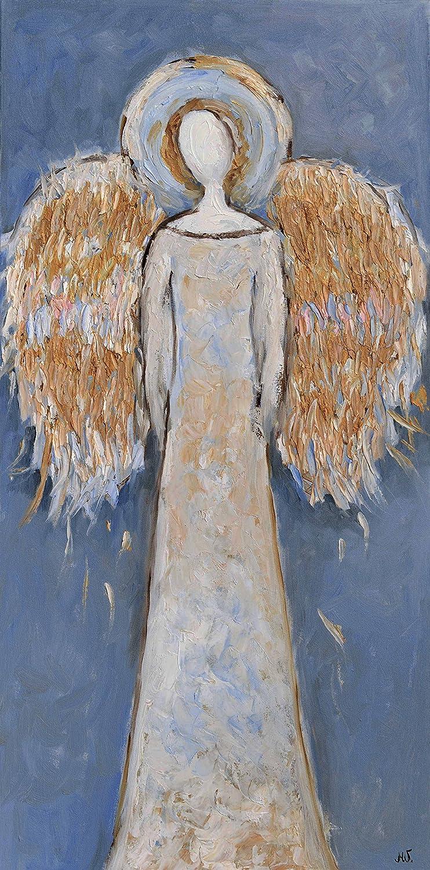 Amazon.com Faceless Guardian Angel Painting Wings Artwork