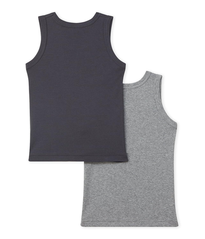 Petit Bateau Set of 2 Boys Plain Undershirts Sizes 2-18 Style 26468-26484