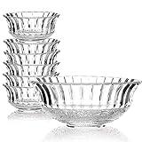 SET OF 7 GLASS SERVING BOWLS SET DESSERT DISHES ICE CREAM SUNDAE FRUIT TRIFLE Evelyn Living®