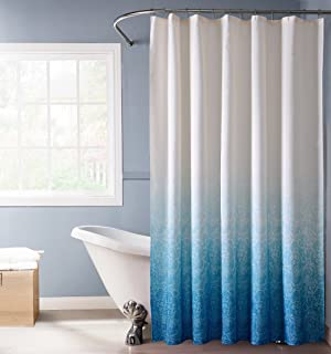 Curtains Ideas blue ombre shower curtain : Amazon.com: Creative Home Ideas Ombre Waffle Weave Shower Curtain ...