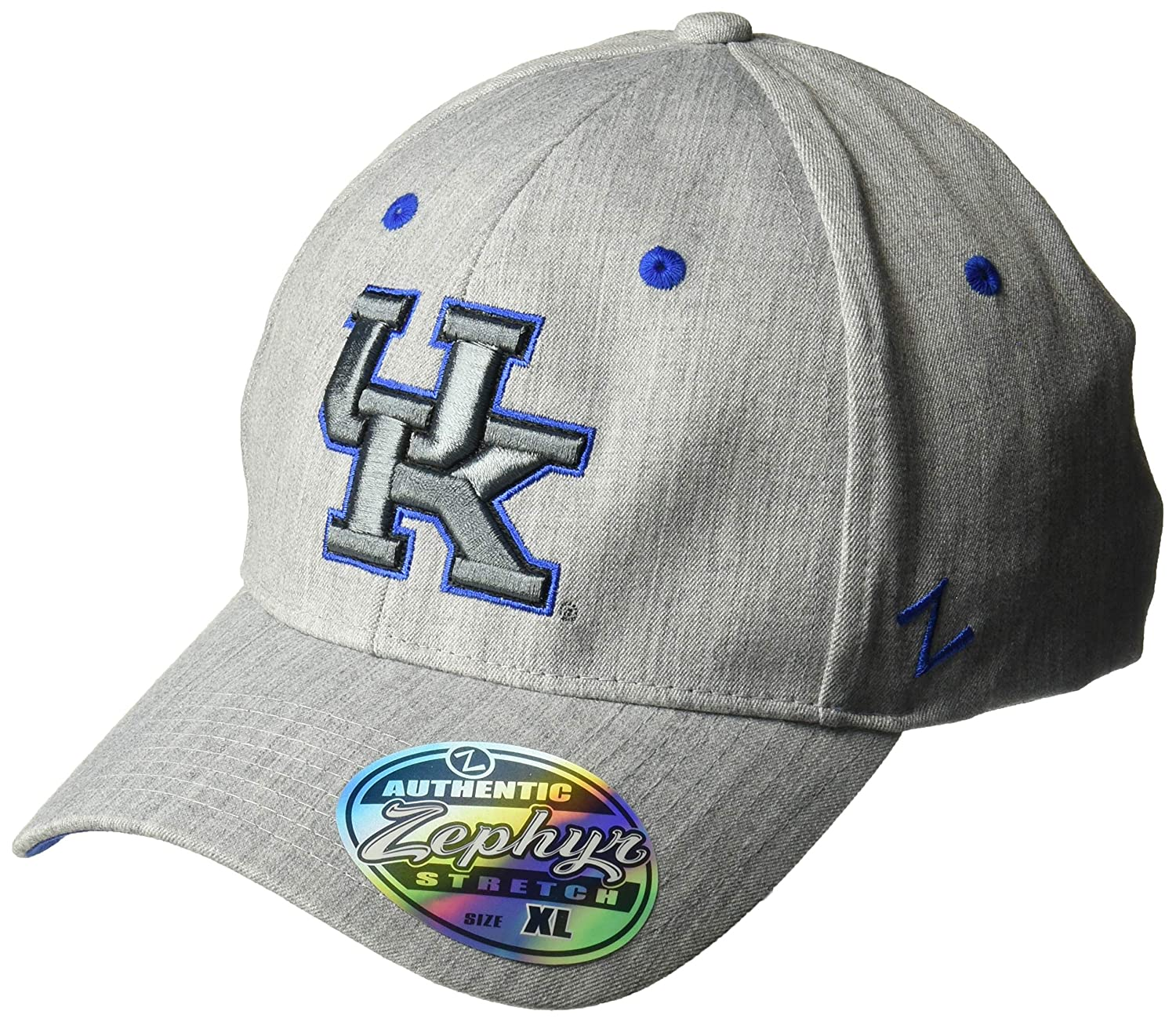 6a93648f72d9c2 Amazon.com : Zephyr NCAA Mens Tailored Stretch Cap : Sports & Outdoors