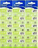 Accell LR41 アルカリボタン電池 10個パック × 3シート (計30個) 水銀・鉛0% オーディオファン 日本国内より発送